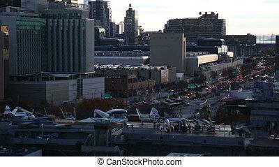 Traffic in New York-USA-New York-September 2016.