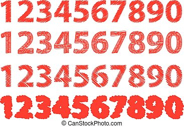 Numbers 0-1-2-3-4-5-6-7-8-9,