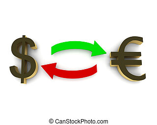 Currency exchange - dollar and euro