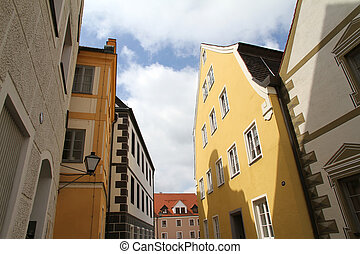Old town in Neuburg an der Donau - Digital Photo of the...