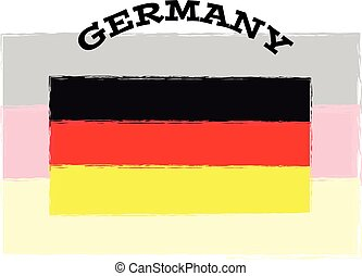 Germany flag on white background