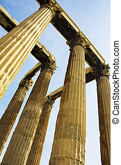Temple of Zeus, Olympia, Greece - Image of the ancient...