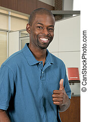 Man Thumbs Up - Handsome man gesturing with a thumbs up