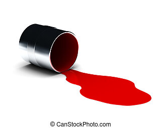 Red spilled paint