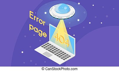 Vector 404 error page template for website.
