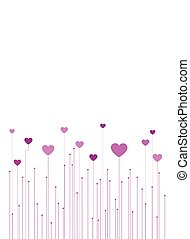 Vector valentine background - Abstract valentine background...