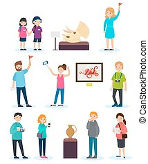 People On Excursion Set - People on excursion set with...