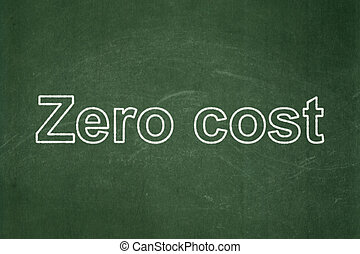 Finance concept: Zero cost on chalkboard background