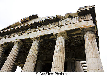 Temple of Agora, Greece - Image of the ancient Temple of...