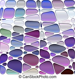 abstract vector stained-glass mosaic background - purple and...