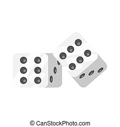 Vector flat style illustration of dice.