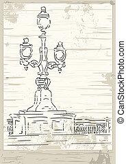 Victorian lantern - Vector victorian lantern - stylised...