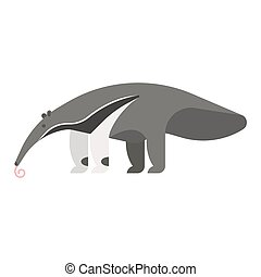 templateVector flat style illustration of anteater. - Vector...