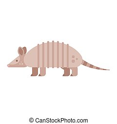 Vector flat style illustration of armadillo. Icon for web....