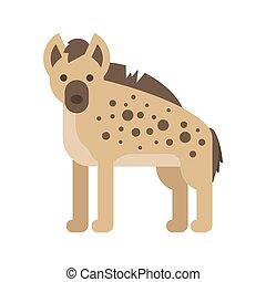 Vector flat style illustration of hyena.