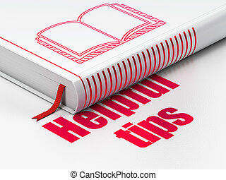Education concept: book Book, Helpful Tips on white background