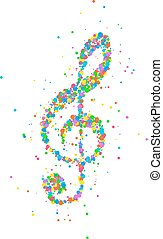 Abstract treble clef - Abstract illustration of a treble...