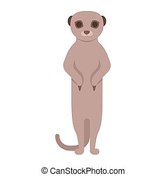 illustration of meerkat. - Vector flat style illustration of...