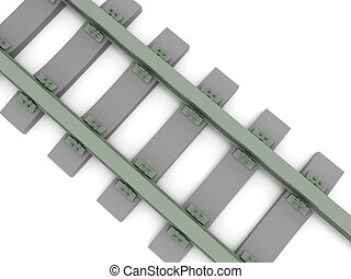 Crossed railroad isolated on white background. High quality...