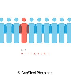 Be different concept illustration - Unique individuality...