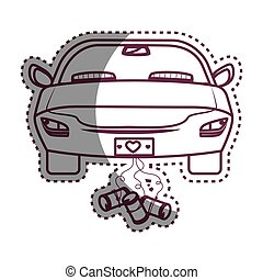just married car icon