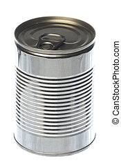 Tin Can Isolated - Isolated macro image of tin can.