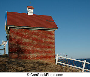 Brick Building - Little brick building sitting next to the...