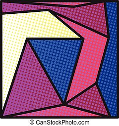 bright colors backgrond - Comics pop-art style blank layout...