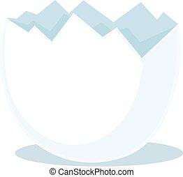 broken eggshell - vector illustration