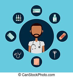 Medical doctor man - medical doctor man with medicine...