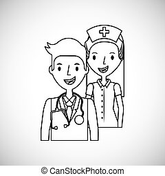 medical doctor and nurse