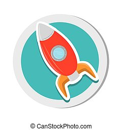 rocket child toy icon