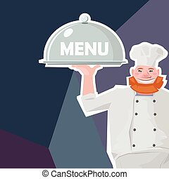 funny chief-cook smiling
