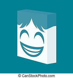 happy face icon - design of happy face icon