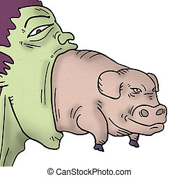 imaginative pig