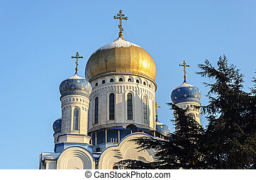Holy Cross Orthodox cathedral in Uzhgorod, Ukraine - Cupola...