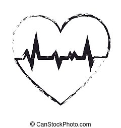 heart healthcare isolated icon