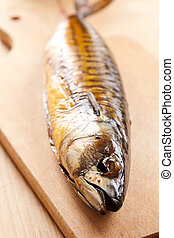 smoked mackerel - photo shot of smoked mackerel