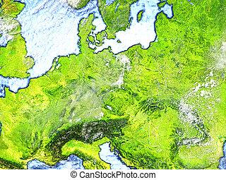 Eastern Europe on Earth - visible ocean floor - Eastern...