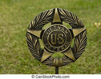 軍, 記念, 紋章, ベテラン, サービス