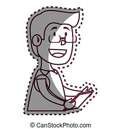 psychologist avatar character icon vector illustration...