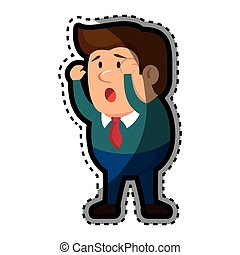 Psychiatric patient avatar character vector illustration...