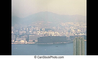 Victoria Peak panorama - Panorama of Victoria Harbour...