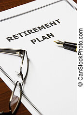Retirement Plan - Image of a retirement plan on an office...