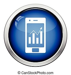 Smartphone with analytics diagram icon