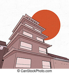 pagoda illustration