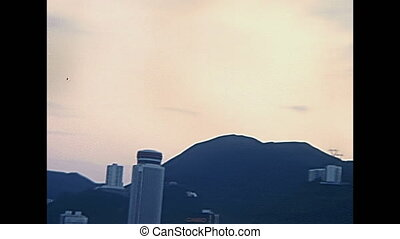 Historic Victoria Peak - Panorama close up on Victoria Peak...