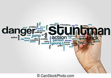 Stuntman word cloud