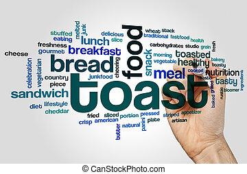 rostat bröd, ord, moln