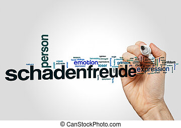 Schadenfreude word cloud concept